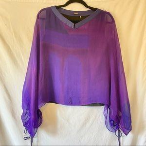 Elie Tahari Purple Blouse